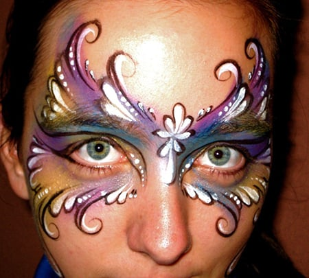 Face Painting Renette green eyes
