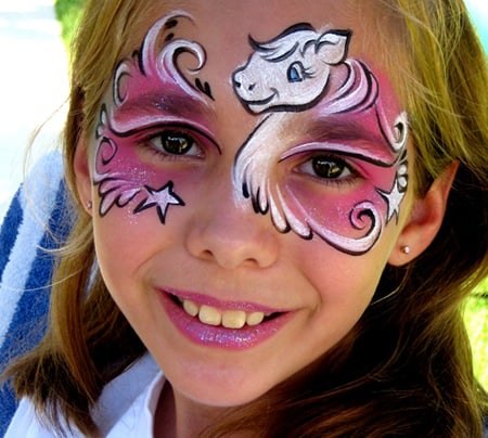 Face Painting Renette unicorn