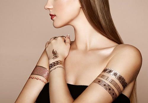 Glitter Metallic Tattoo