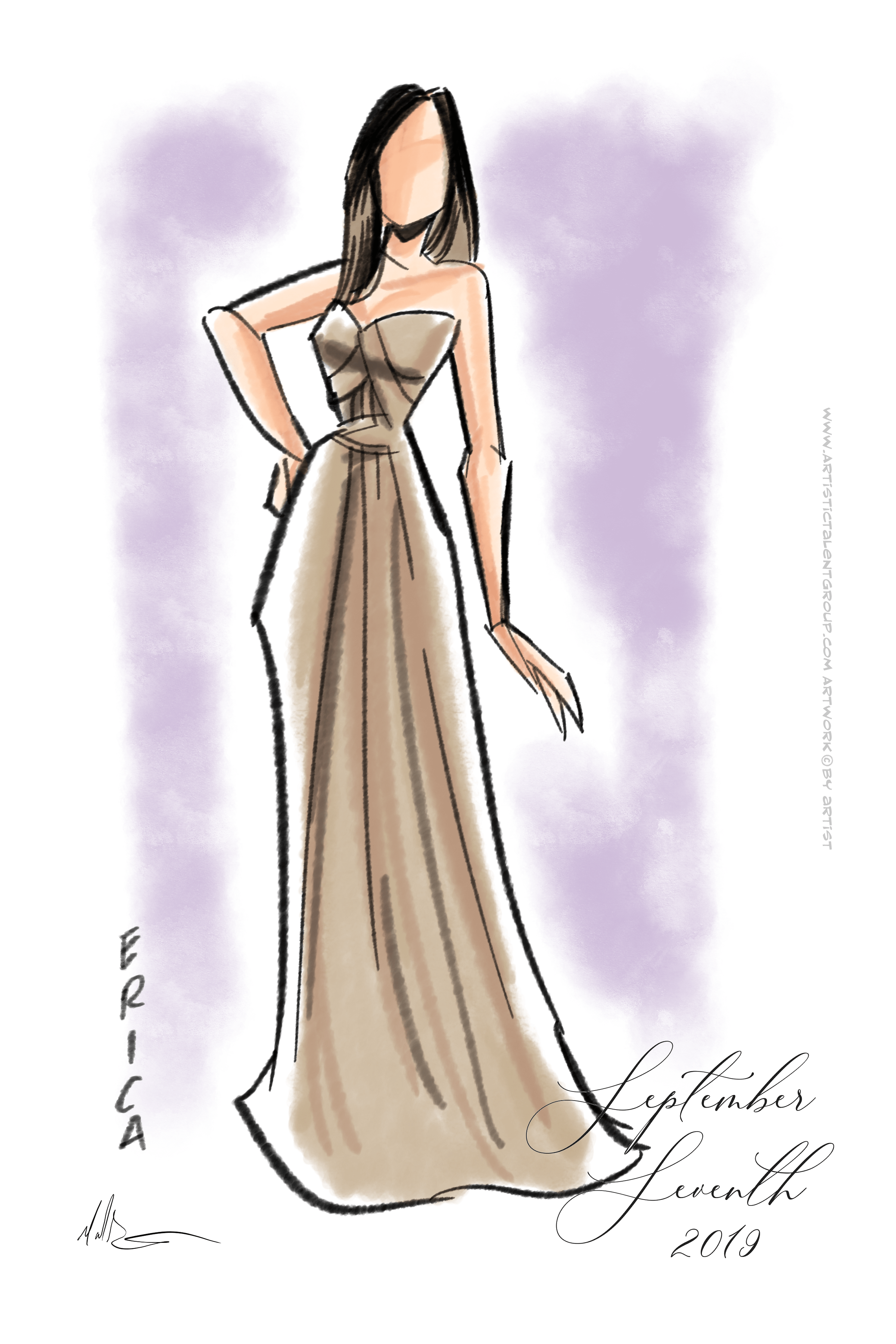 Fashion Sketches Artistic Talent Group