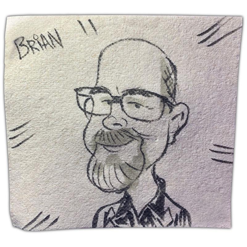 "apkin art caricature with name ""Brian"""