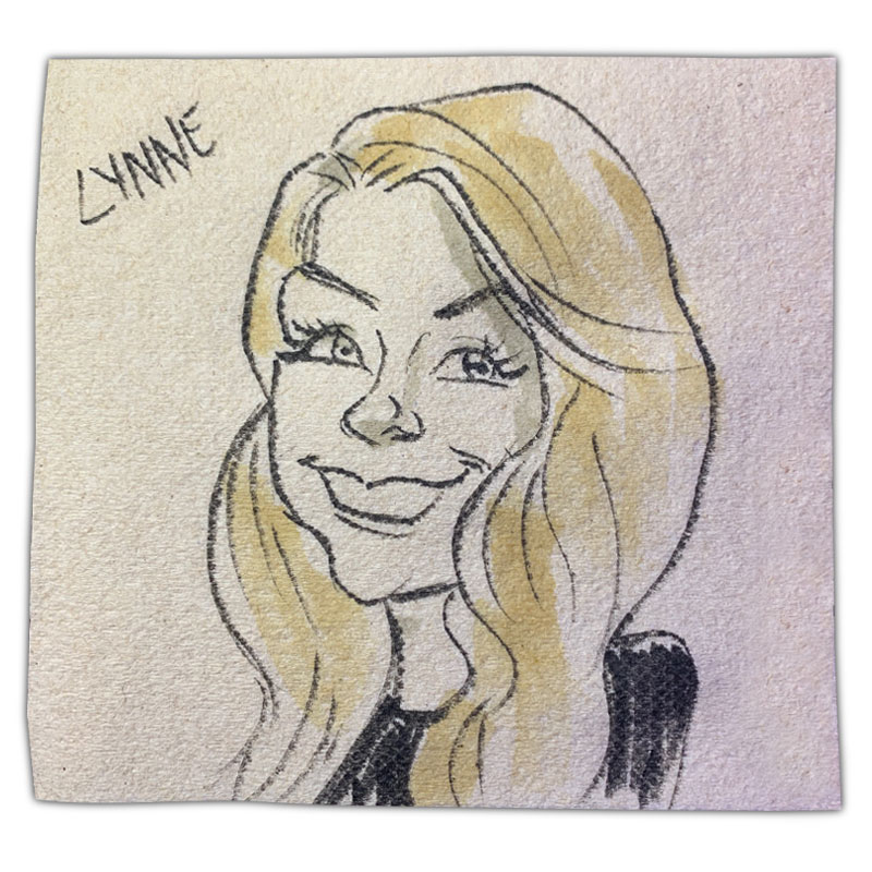 """apkin art caricature with name """"Lynne"""""""