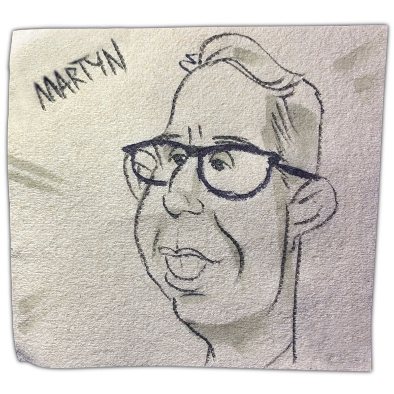 """apkin art caricature with name """"Martyn"""""""