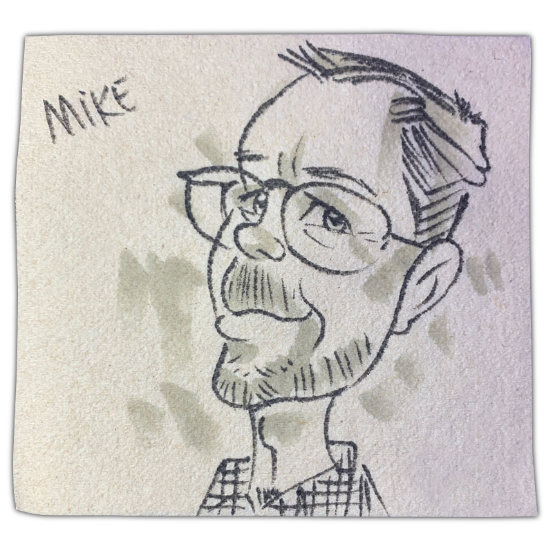 """apkin art caricature with name """"Mike"""""""