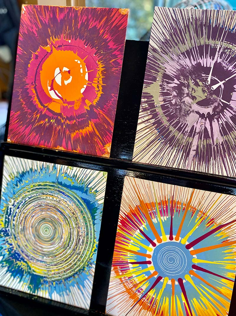 Spin Art at Epcot's Festival of the Arts