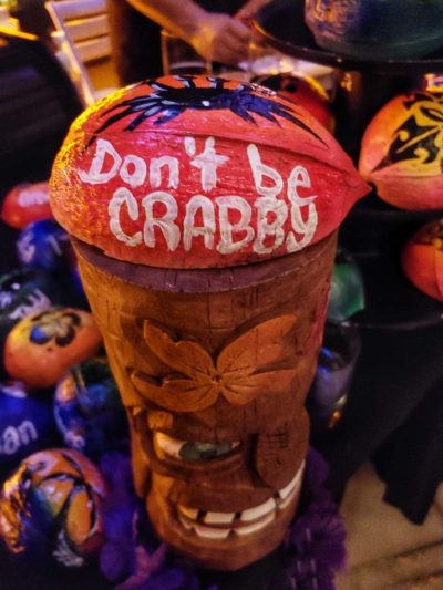 "Coconut Tiki Hat ""Don't Be Crabby"""