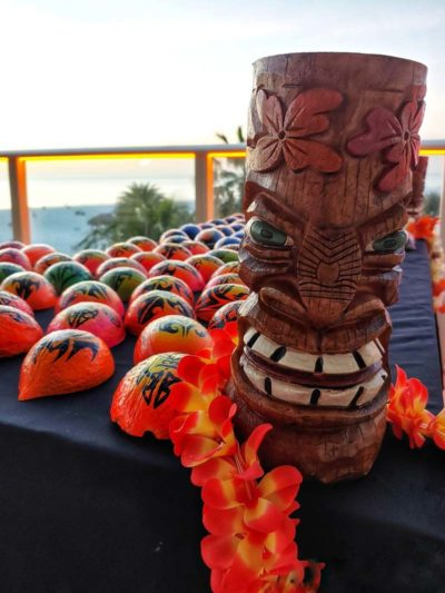 Painted Coconuts and Tiki