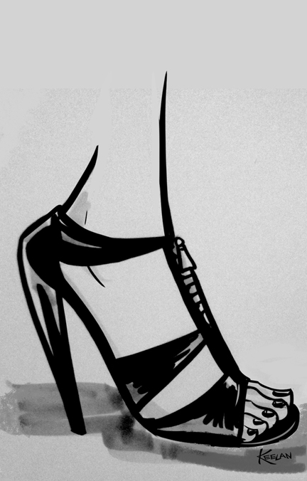 Fashion Sketch shoe 3sm