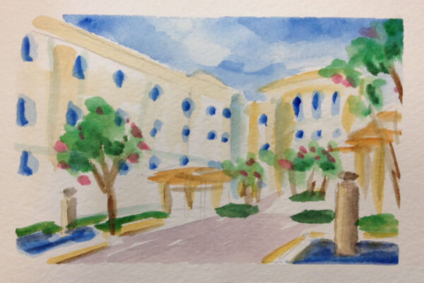 watercolor hospital 2